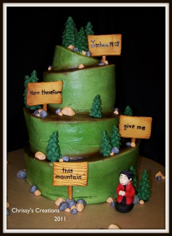 Woman Hikers Birthday Cake