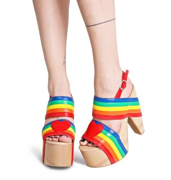Current Mood Rainbow Connection Platforms | Dolls Kill