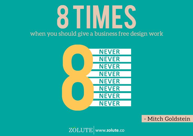 8 times when you should give a business free design work #designthinking #marketingstrategy