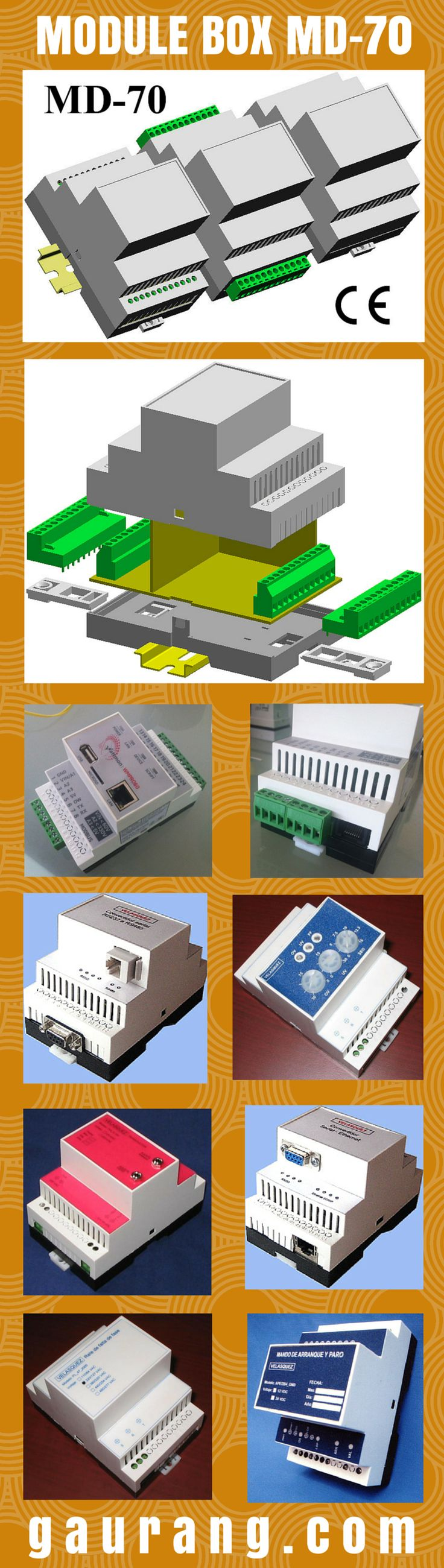 DIN Rail Modular Enclosures offers packaging to wide range of applications from Instrumentation, automotive industry to home/building automation, Relays, Timers, Transducers, Transmitters, Thermostat, Sensing and Monitoring Devices. Knockout blanks for individual terminal configuration. #GaurangEnclosures #DinRailEnclosures #PlasticEnclosures #ModularEnclosures #WallMountEnclosures #ElectronicEnclosures #Enclosures #Boxes #Cases #ElectricalEnclosures Mfg: www.gaurang.com