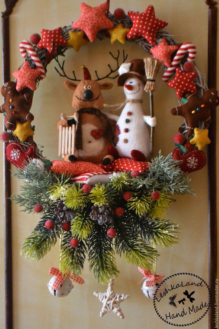 Купить К новому году готовы! - комбинированный, снеговик, олень, авторская игрушка, интерьерная игрушка
