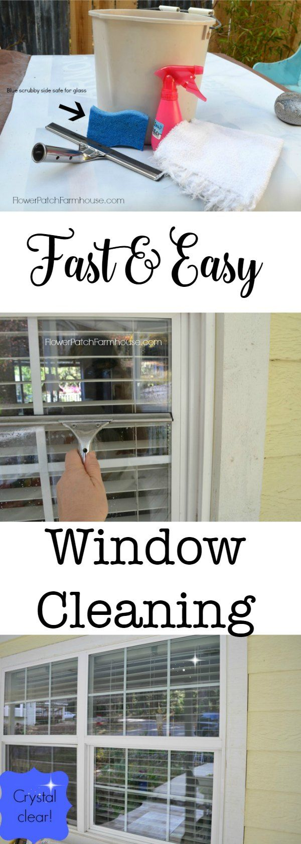 Fast and Easy window cleaning! The best method I use.