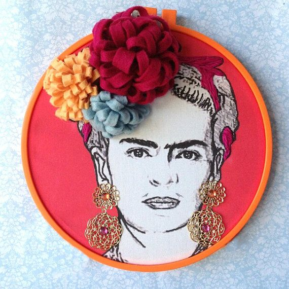 Custom Frida Kahlo  Handmade Illustrated and door FawnandSquirrel, $27.00