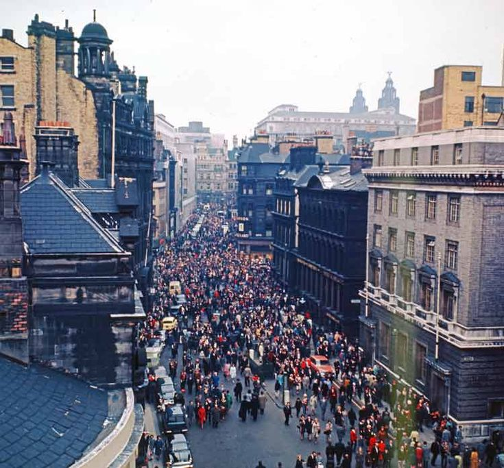 Victoria-Street-1965 , Ee Aye Addio we won the cup , getting ready to welcome Liverpool FC
