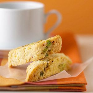 Almond Biscotti Each crisp biscotti is low-fat, yet luscious. This recipe is easily adjusted to accommodate almonds, hazelnuts, pistachios, or cashews.
