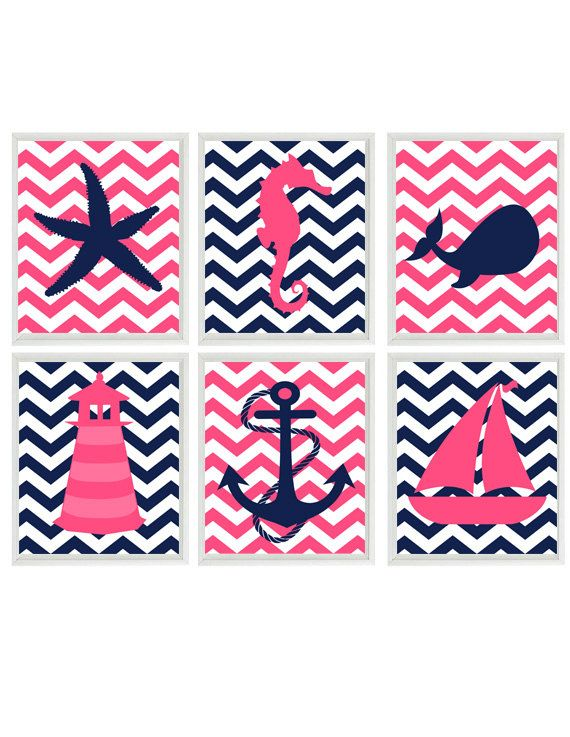 Hey, I found this really awesome Etsy listing at https://www.etsy.com/listing/198472848/baby-girl-nautical-nursery-art-navy-blue