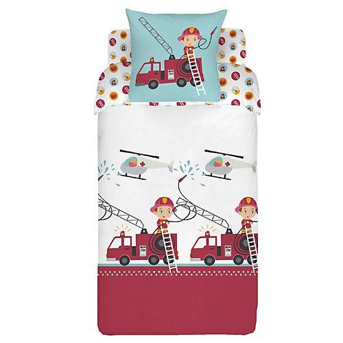 Parure de couette enfant pour lit 1 place - Pinpon - Parures de couette enfants-Linge de lit enfant-Univers des enfants-Par type de produit - Décoration intérieur - Alinea