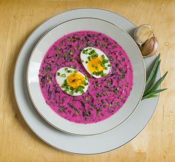 Przepis na chłodnik litewski z jajkiem