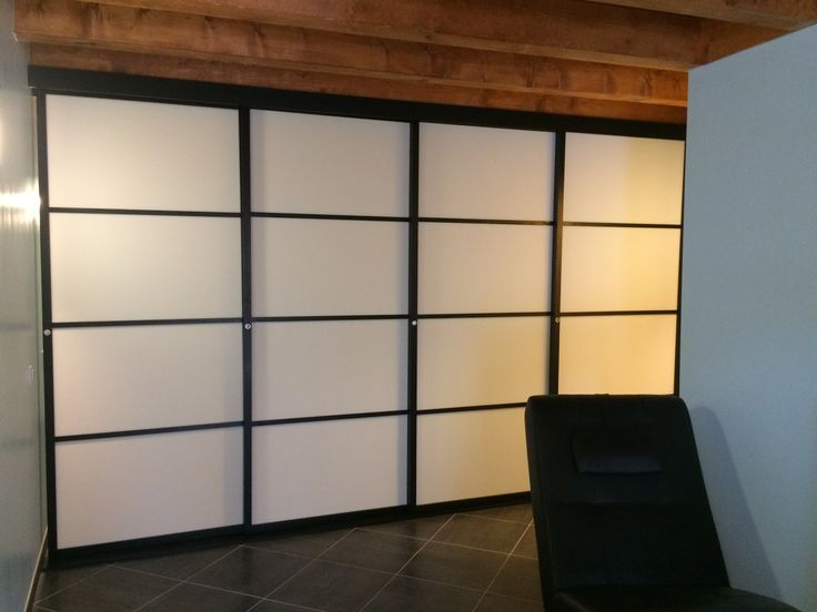 1000 id es sur le th me cloison japonaise sur pinterest for Installation d une porte coulissante
