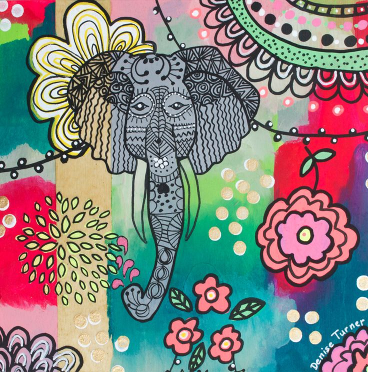 BOHEMIAN ELEPHANT #1 Print by PositivelyArt on Etsy.  The elephant's characteristics of reliability, memory, strength and honour are captured in the various poses. Elephants teach us  to be gentle, committed and be good communicators in our relationships. A vibrant tribute to any elephant lover! The print is reproduced on smooth, matte, fine archival paper allowing for an impressive pictorial depth of the original. www.positivelyart.ca