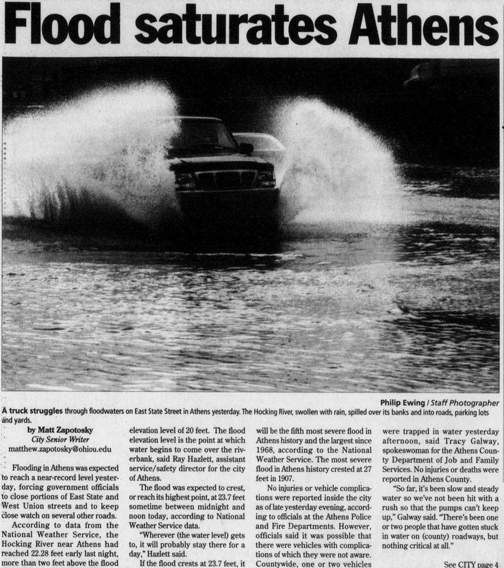 "Post (Athens, Ohio) January 7 2005, Page 1: ""Flood"