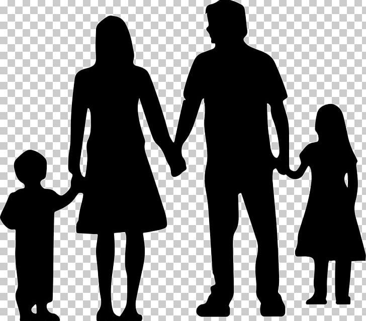 Nuclear Family Silhouette Png Black And White Cartoon Child Clip Art Communication Family Silhouette Silhouette Png Family Clipart Black And White