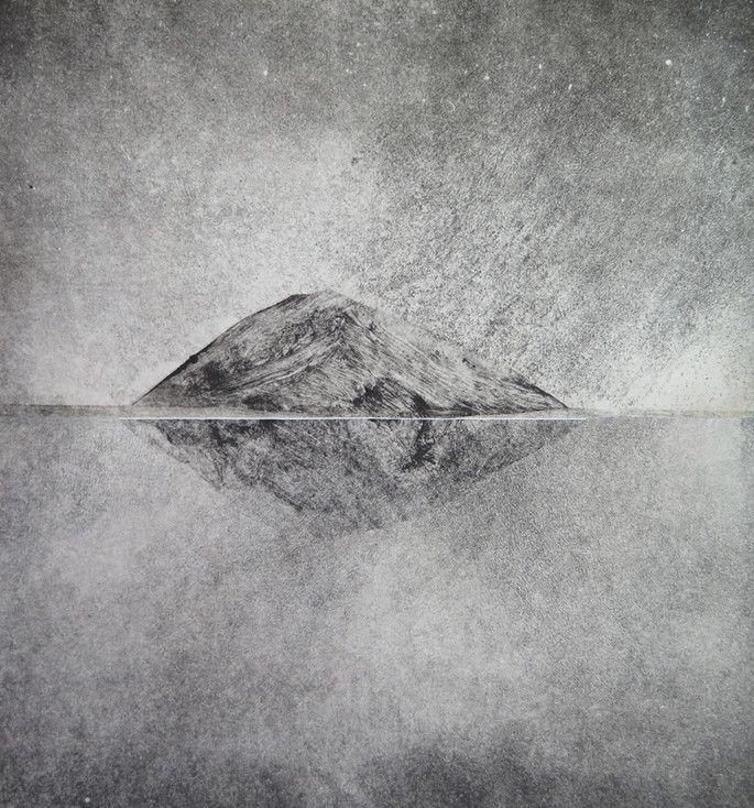 Des paysages monochromes en monotype