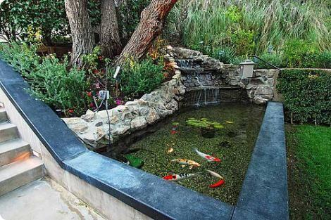 lago-para-peixes-no-jardim