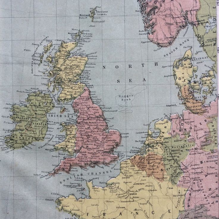 Mejores 14 imgenes de uk maps en pinterest cartografa 1865 the british isles original antique hand coloured engraved square map nelsons atlas wall decor world map home decor gumiabroncs Images