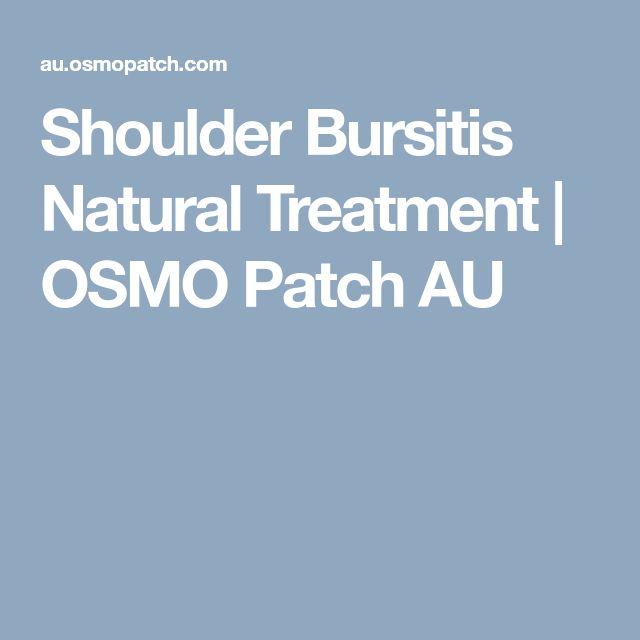 Shoulder Bursitis Natural Treatment | OSMO Patch AU