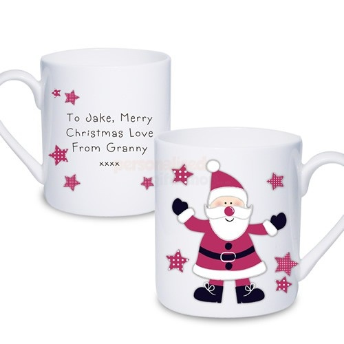 Personalised Christmas Mug - Spotty Santa  from Personalised Gifts Shop - ONLY £9.95