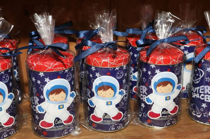 Fun favors at an outer space birthday party! See more party ideas at CatchMyParty.com!