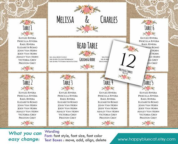 96 best Signage images on Pinterest Wedding seating charts - free printable seating chart