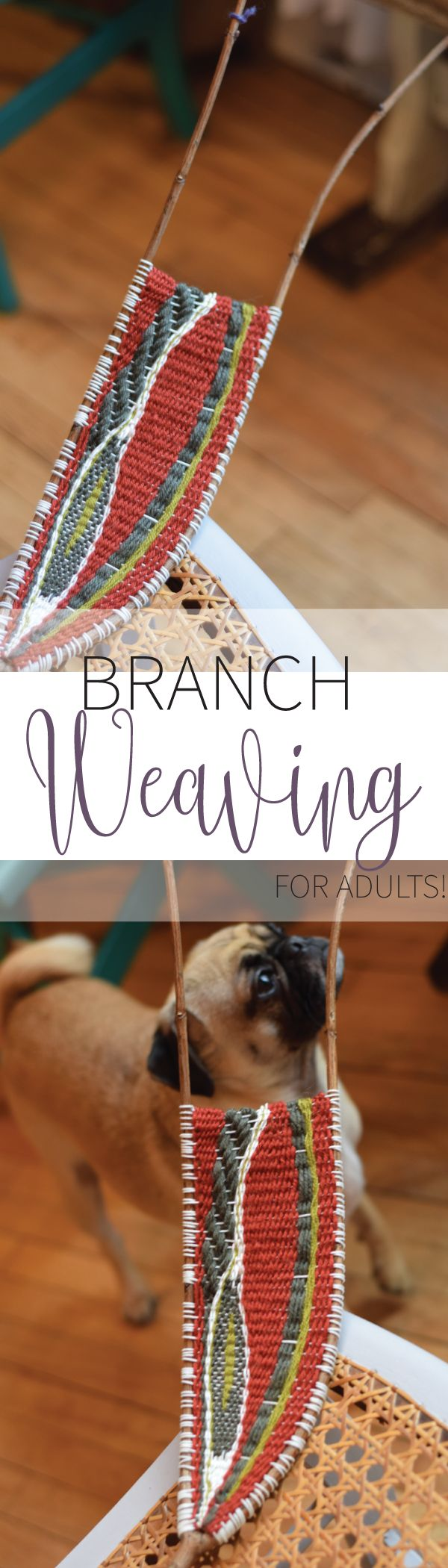 Learn branch weaving! Yes, it's a thing and it's THE new trendy craft to learn (for adults and kids). Detailed instructions inside! No experience needed.