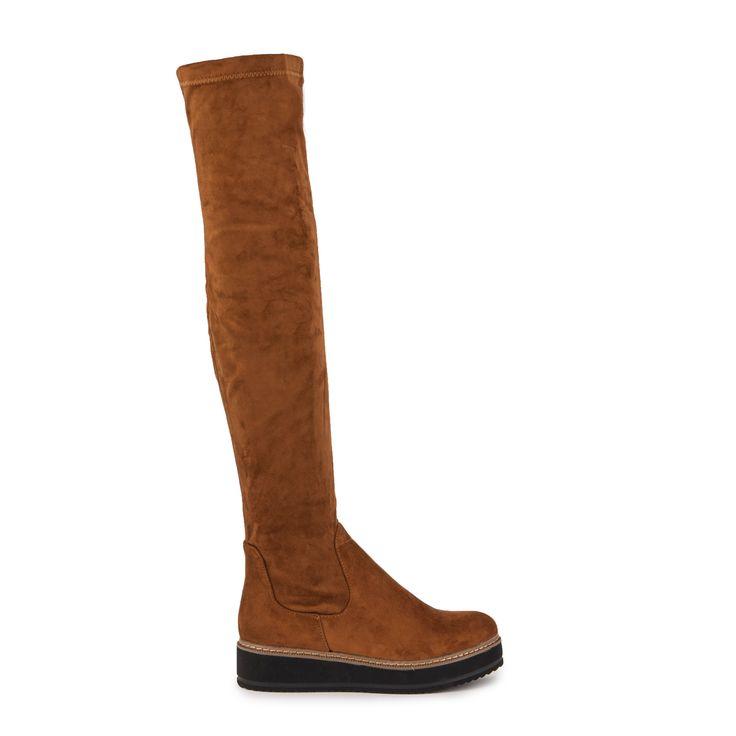 Μπότες κάμελ σουέτ flatforms Από €49,99 ΤΩΡΑ €29,99!
