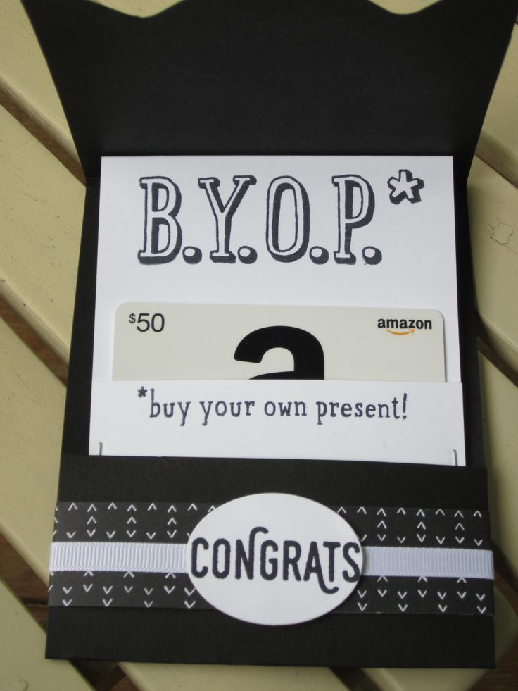 Stampin' Up!'s Number of Years, BYOP, and Perfect Pairings sets in sliding gift card holder.
