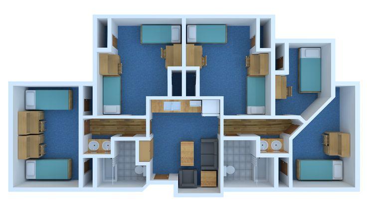 Floor Plan For The Living Learning Community Llc