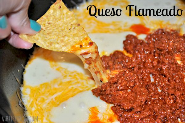 20 minute easy peasy Queso Flameado Recipe