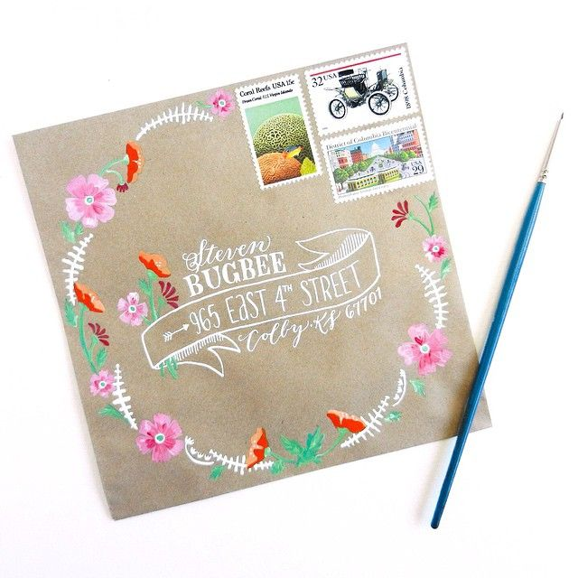 Facebook tutorial for this envelope! Gorgeous happy mail.