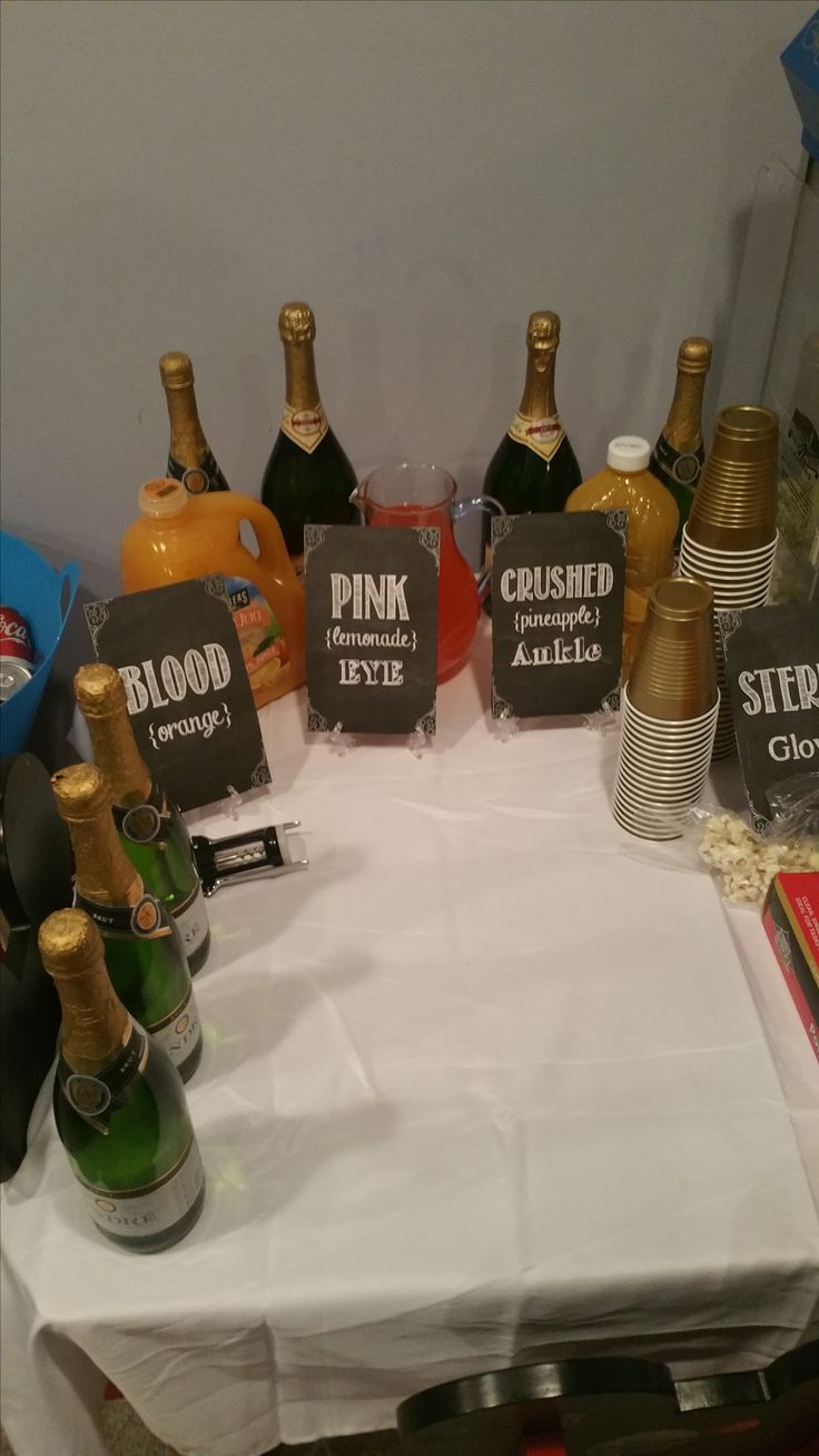 letter resignation rn%0A Mimosa bar for a nursing themed   th birthday party for my sister