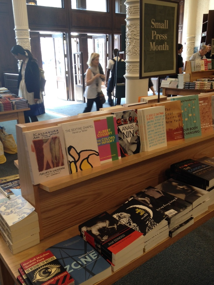 Spotted: Zone by Mathias Enard at Small Press Month table at Barnes and Noble Union Square