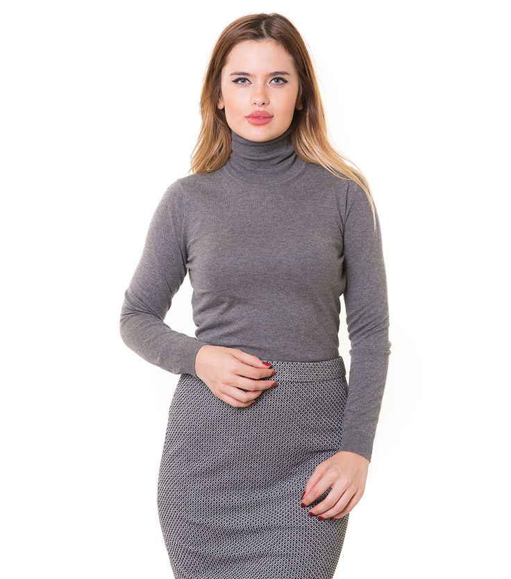 Karaca Bayan Triko Kazak - K. Gri #womensfashion #knitwear #triko #kazak #karaca #ciftgeyikkaraca www.karaca.com.tr