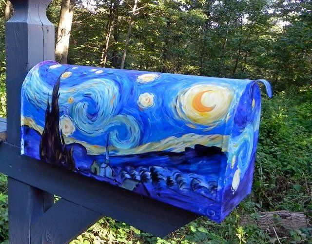 starry night mailbox - Google Search