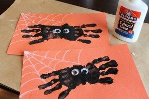 Spider Handprints.... Good for fall, plus we are reading charlottes web right now too