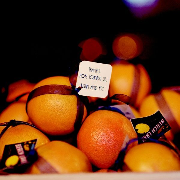 This is a fun and different idea, having oranges for a wedding favor, both easy to do and a refreshing treat for your guests   My Big Day Events   #creative #DIY #fun #weddingfavor   http://www.mybigdaycompany.com/weddings.html