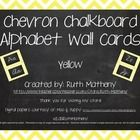 This set includes 2 complete chevron sets of alphabet word wall cards in yellow. One set features a Zaner Bloser manuscript font, and one set inclu...