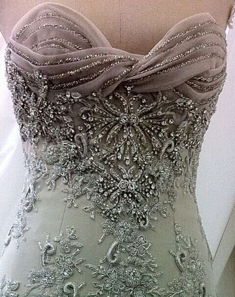 What gorgeous beading! #beading #gown