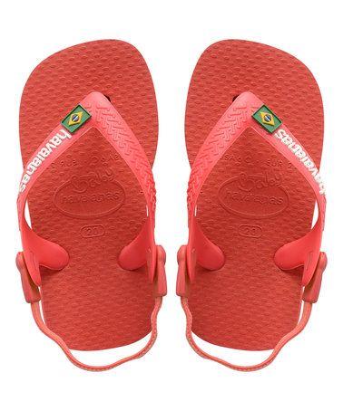 Look what I found on #zulily! Ruby Red Brazil Logo Baby Flip-Flop - Kids #zulilyfinds