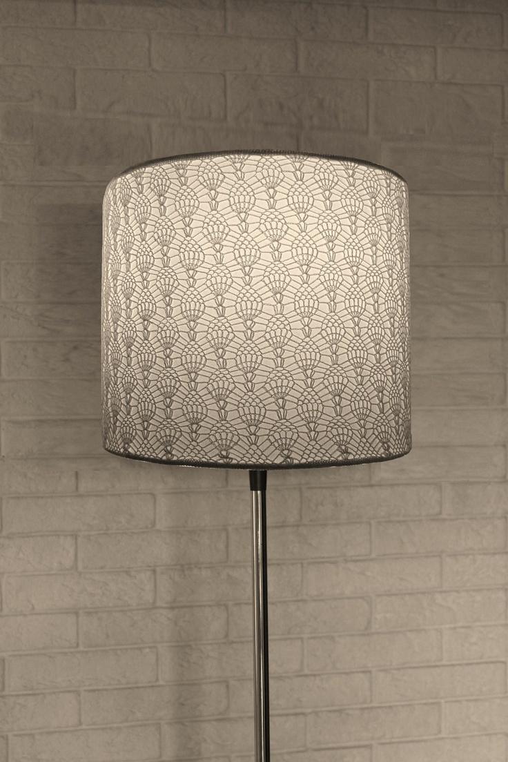 Crochet Lamp White Ornament