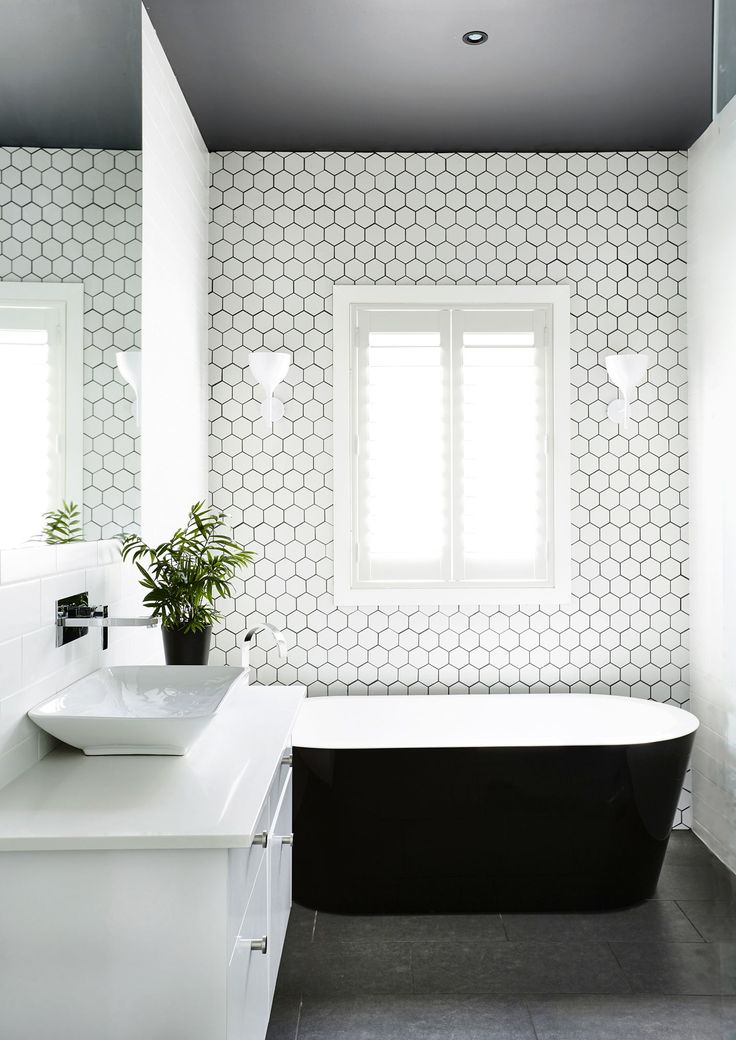gallery edwardian restoration for a family home black wall tileswhite bathroom - Bathroom Tile Ideas Black And White