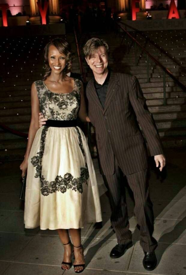 David Bowie with Iman                                                                                                                                                                                 More