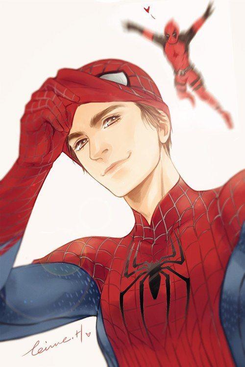 Look behind you. Spider-Man & Deadpool. Spideypool. <3