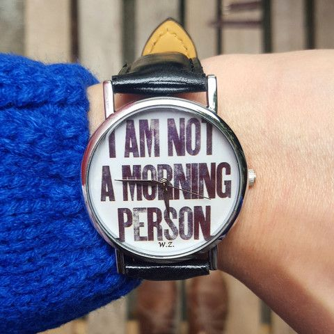 "Orologio ""I'm not a morning person"" – WOODSTOCK ZAMBON"
