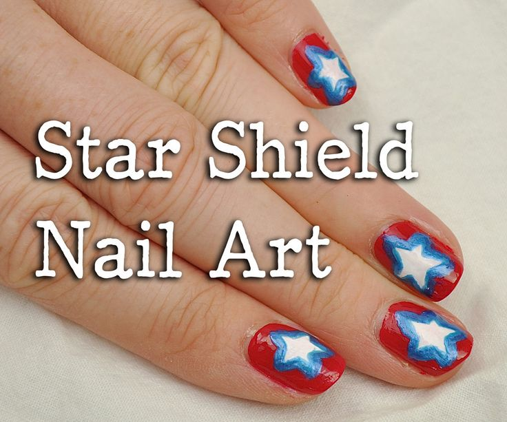 4th of july nails step by step