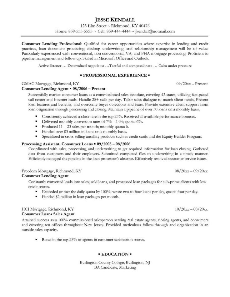 Best 25+ Resume writing examples ideas on Pinterest Resume ideas - fha loan processor sample resume