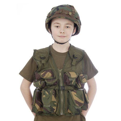 Kids Army Camouflage Helmet + Assault Vest Combo - Fits Ages 5-14 KAS http://www.amazon.co.uk/dp/B006ZN7VF8/ref=cm_sw_r_pi_dp_mtkyub0QE8T9R