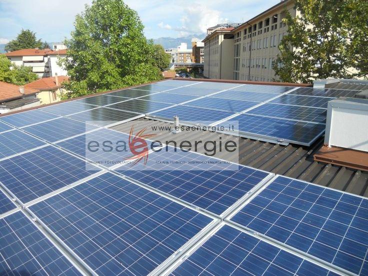 Impianto fotovoltaico a Pordenone. www.esaenergie.it