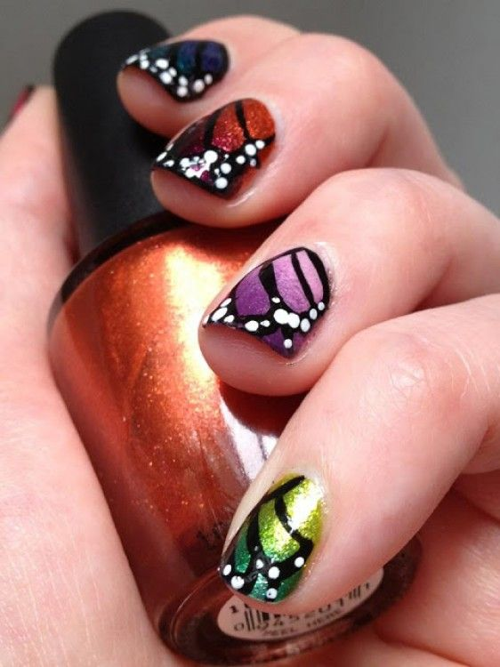 Butterfly nails - These are gorgeous.  I don't usually worry about my nails but I love these and would wear them...