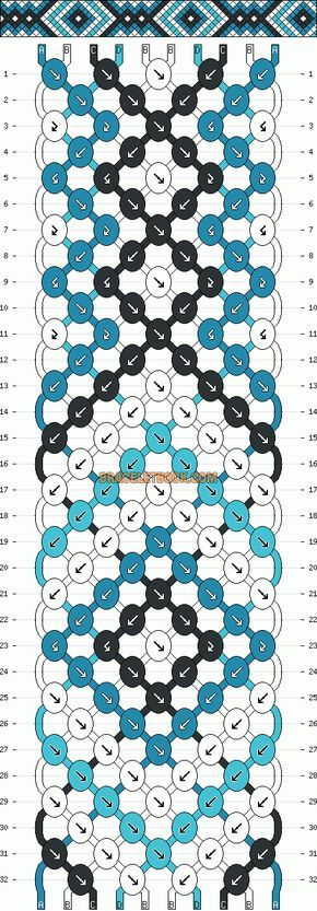 Bracelet brésilien, bracelet d'amitié. Pattern #7440 - BraceletBook.com