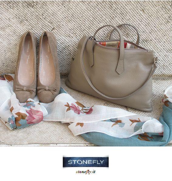 #sand and #flowers - ballerine Kate, borsa Pad e pashmina a stampa floreale